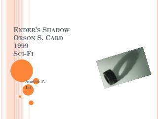 Ender's Shadow Orson S. Card 1999 Sci-Fi