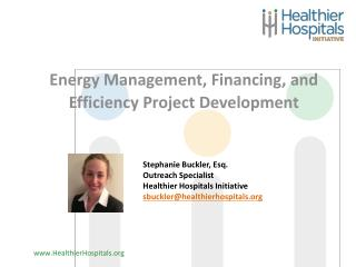 Energy Management, Financing, and Efficiency Project Development