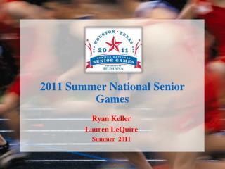 2011 Summer National Senior Games