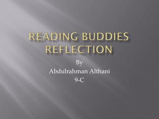 Reading Buddies Reflection