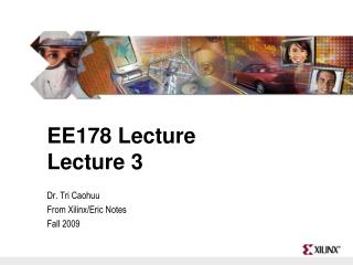EE178 Lecture Lecture 3