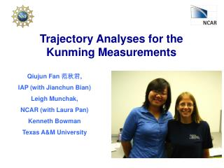 Trajectory Analyses for the Kunming Measurements