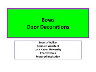 Bows Door Decorations
