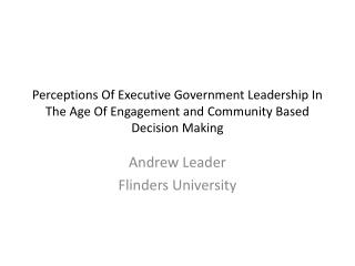 Andrew Leader Flinders University