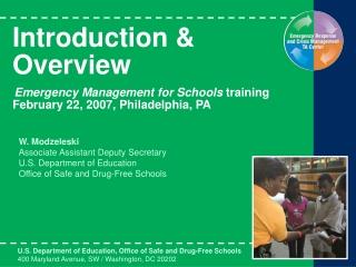 W. Modzeleski Associate Assistant Deputy Secretary U.S. Department of Education