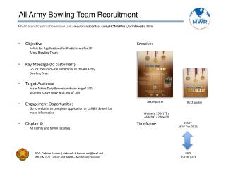 All Army Bowling Team Recruitment