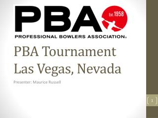 PBA Tournament Las Vegas, Nevada