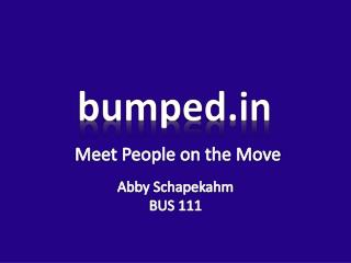 Meet People on the Move