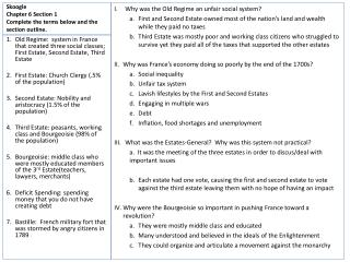 Skoogle Chapter 6 Section 1 Complete the terms below and the section outline.