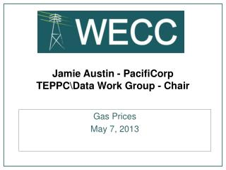 Jamie Austin - PacifiCorp TEPPC\Data Work Group - Chair