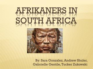 Afrikaners in South Africa