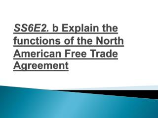 an introduction to the history of the north american free trade agreement nafta