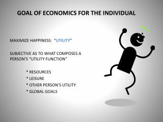 GOAL OF ECONOMICS FOR THE INDIVIDUAL