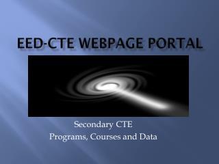 EED-CTE webpage portal