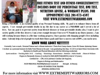 FREE FITNESS TEST AND FITNESS CONSULTATION