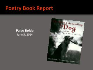 Poetry Book Report