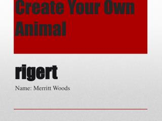 Create Your Own Animal rigert