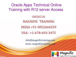 Oracle Apps Technical Online Training with R12 server Access