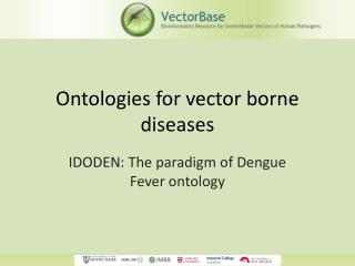 Ontologies for vector borne diseases