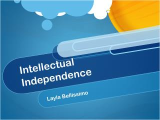 Intellectual Independence