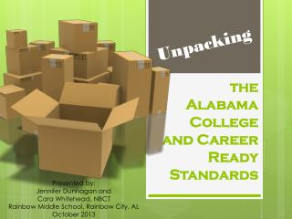 the Alabama College and Career Ready Standards
