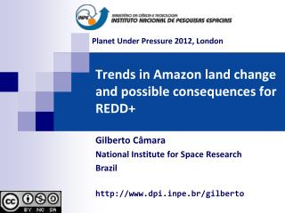 Trends  in  Amazon land change and possible consequences  for REDD+