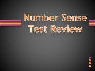 Number Sense Test Review
