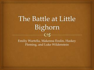The Battle at Little Bighorn