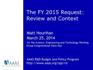 The FY 2015 Request: Review and Context