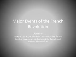 Major Events of the French Revolution