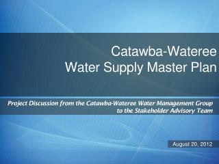Catawba-Wateree  Water Supply Master Plan