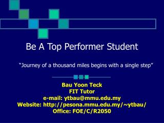 Be A Top Performer Student