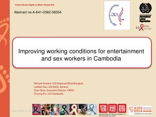 Improving working conditions for entertainment and sex workers in Cambodia
