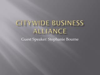 Citywide Business Alliance