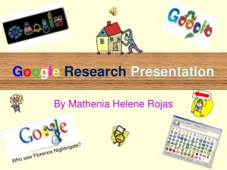 G o o g l e Research  Presentation