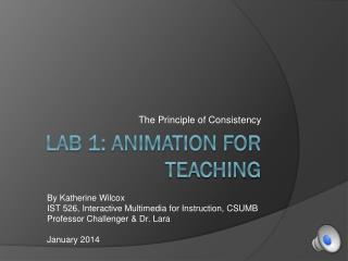 Lab 1: Animation for teaching