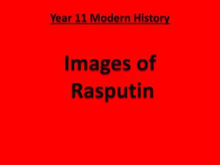 Year 11 Modern History Images of  Rasputin