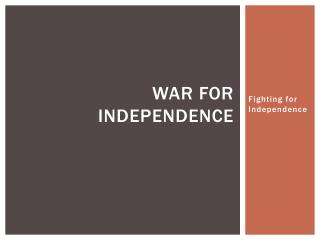 War for Independence
