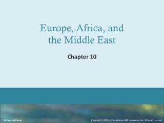 Europe, Africa, and the Middle East