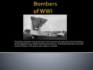 Bombers     of WWI