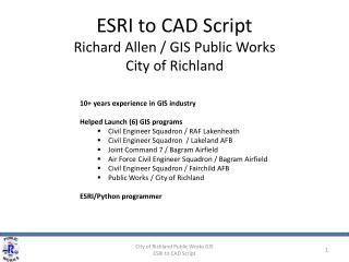 ESRI to CAD Script