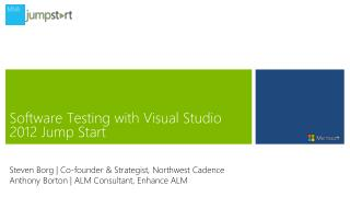 Software Testing with Visual Studio  2012 Jump  Start