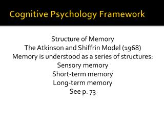 Cognitive Psychology Framework