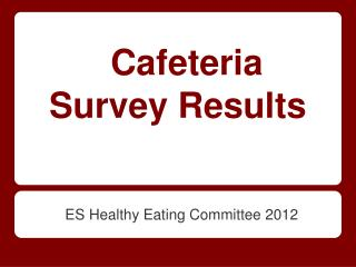Cafeteria Survey Results