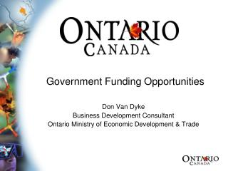 Government Funding Opportunities