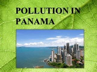 POLLUTION IN PANAMA
