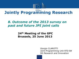 Jointly Programming Research