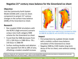 Negative 21 st  century mass balance for the Greenland ice sheet