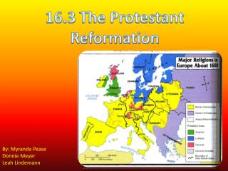 16.3  The Protestant Reformation