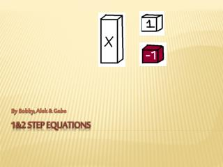 1&2 step equations